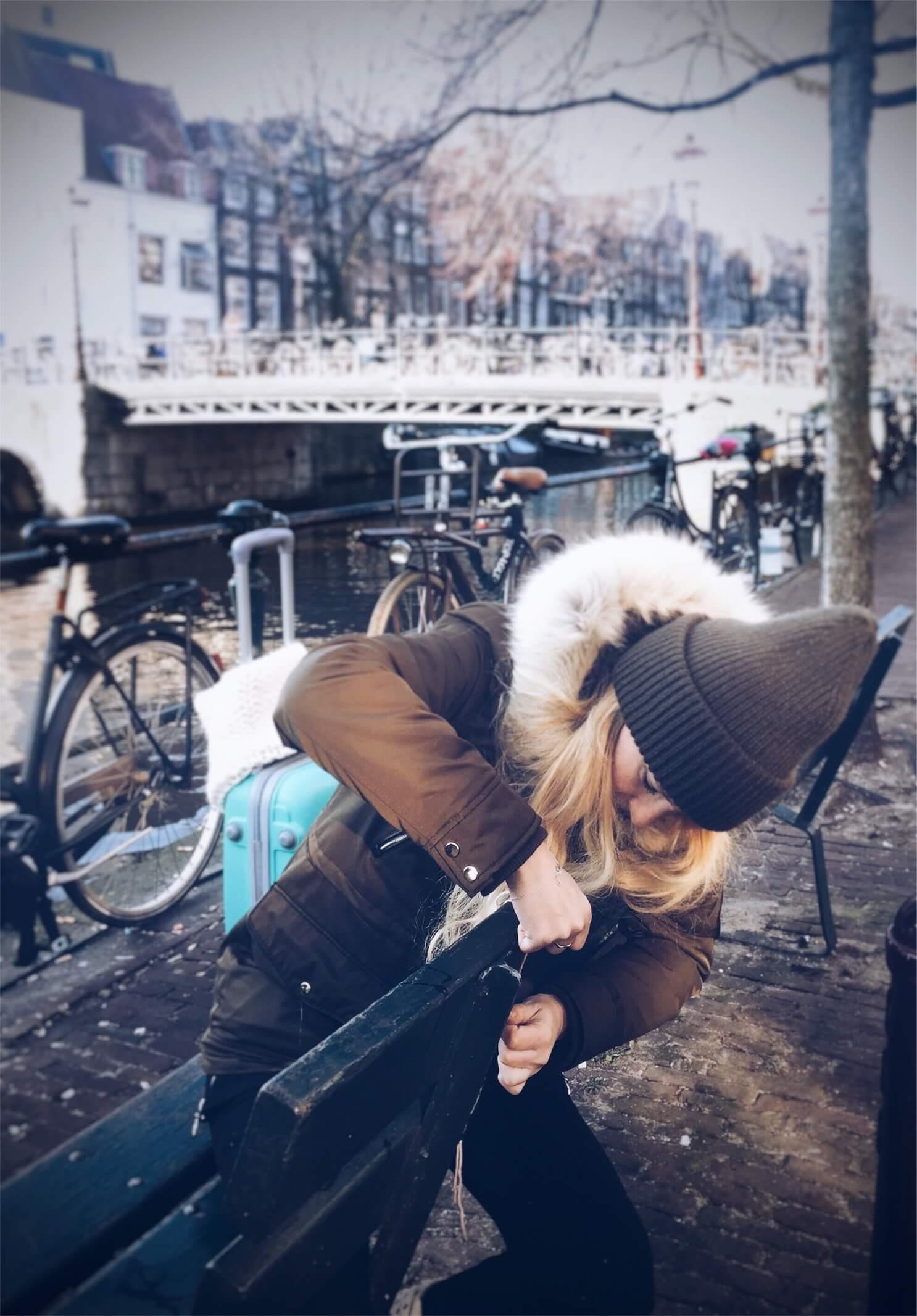 Yarnbombing en Amsterdam
