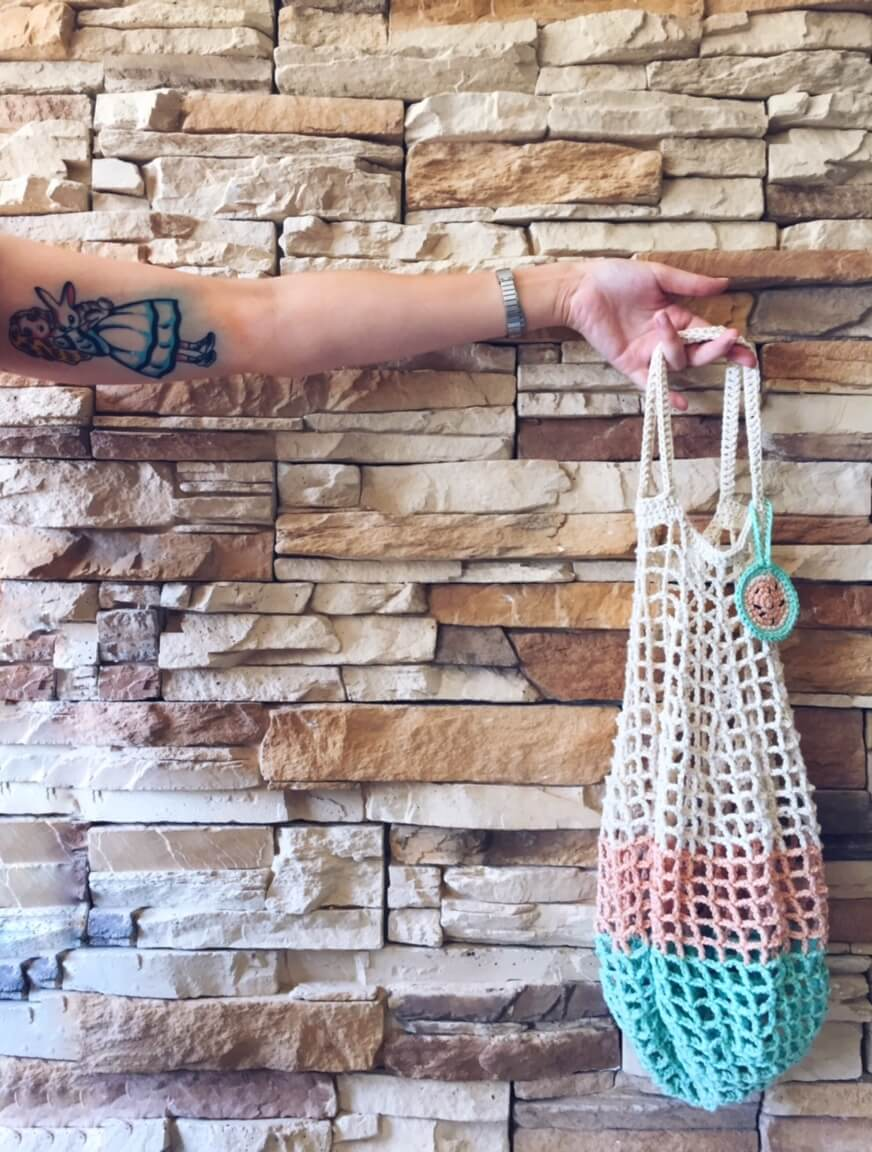 Bolsa de red #PoolKnitter - Alimaravillas crochet designer