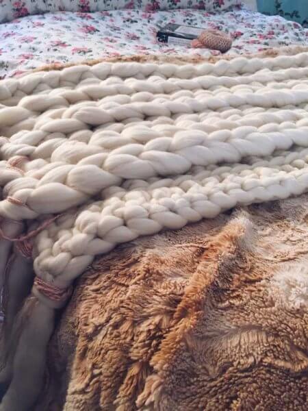Cubrepies crochet Patrón boho nordico