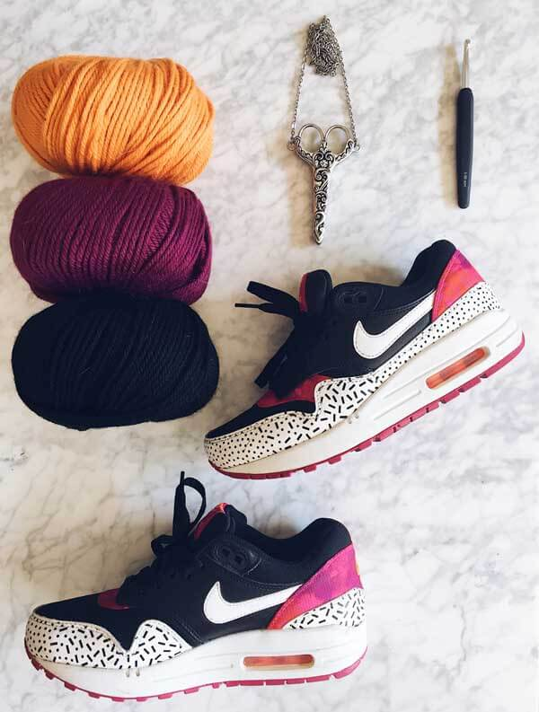 nike rosas crafts crochet