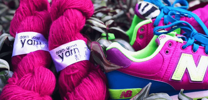 KICKS & YARNS: NEW BALANCE & DARN GOOD YARN